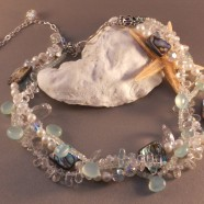 Following Seas Cluster Necklace
