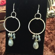Sterling & Labradorite Drop Earrings